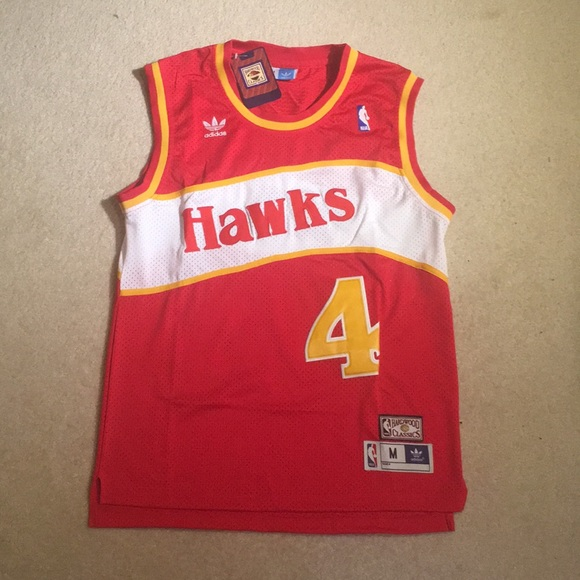 4d2195a42 Atlanta Hawks Spud Webb Throwback Jersey